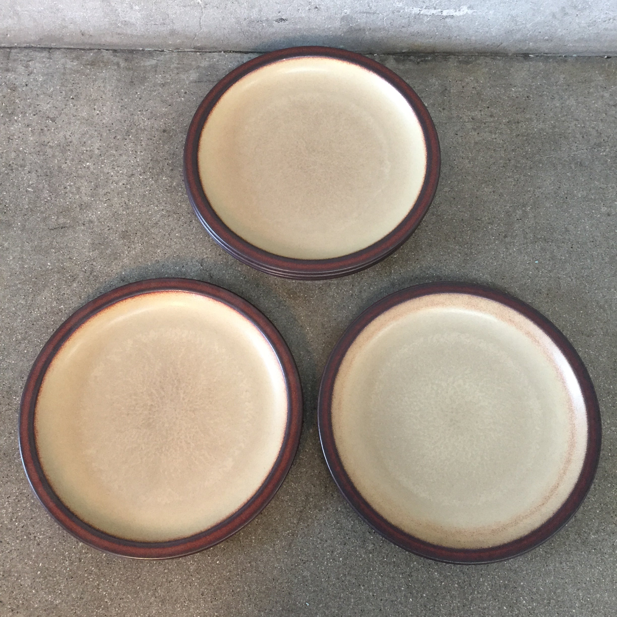 ... Vintage Heath Ceramics Dinner Plates Set Of Five ...