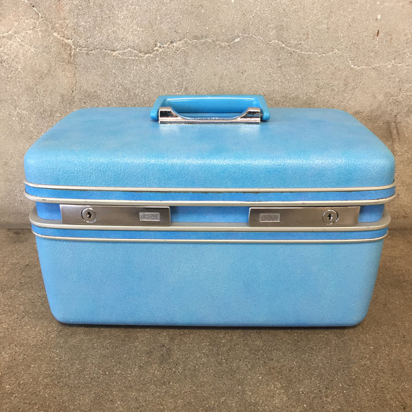 Blue Vintage Courier Train Case