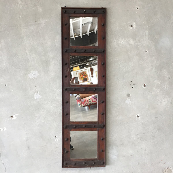 Tall Rustic Wood Mirror