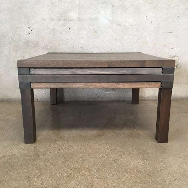 Wood Coffee Table with Pull Out Sides