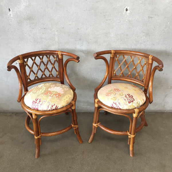 Pair of Vintage Bamboo Side Chairs