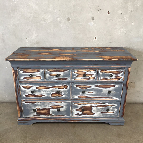 Vintage Distressed Eight Drawer Dresser