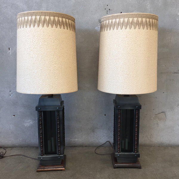 Pair of 1970's Candle Lamps