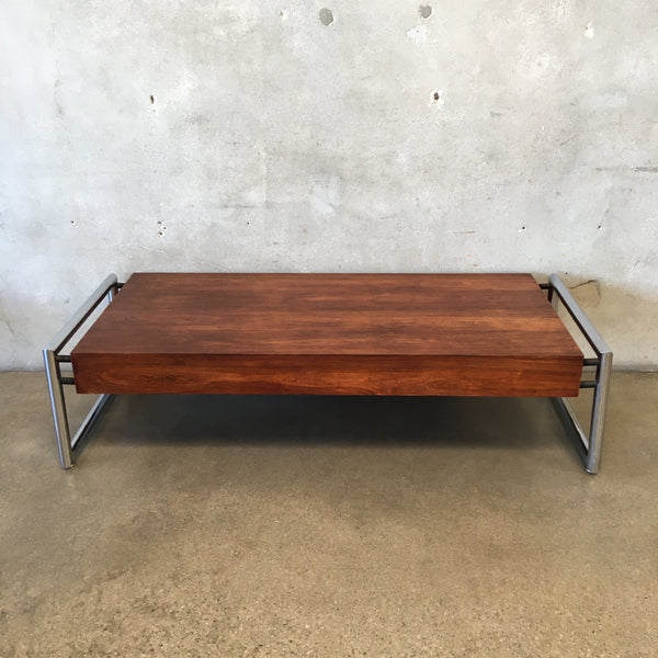 Mid Century coffee Table with Chrome