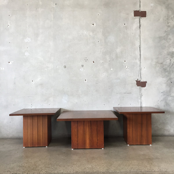 Set of Three Mid Century Lane Tables