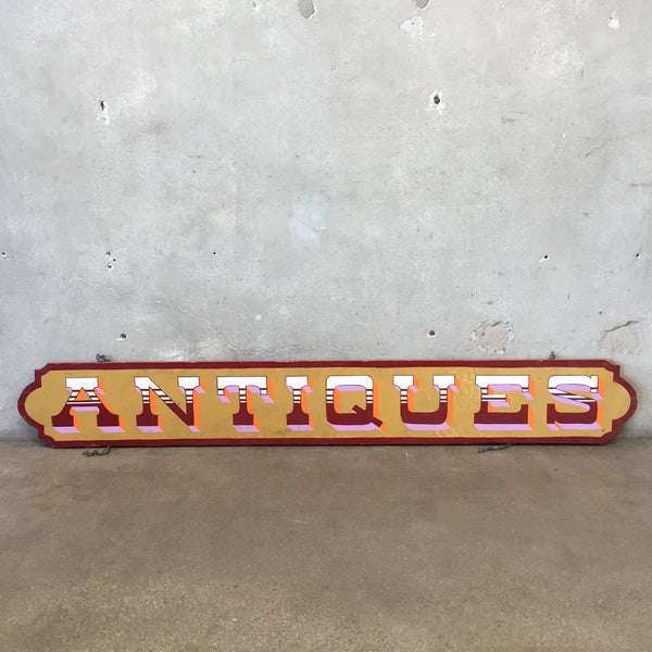 "Hand Painted Wood ""Antiques"" Sign"