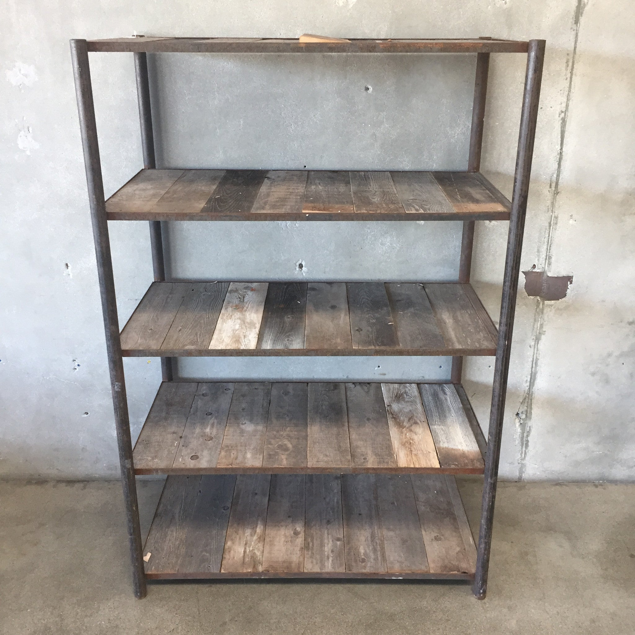 Industrial Reclaimed Wood Shelving Unit Industrial Reclaimed Wood Shelving  Unit ...