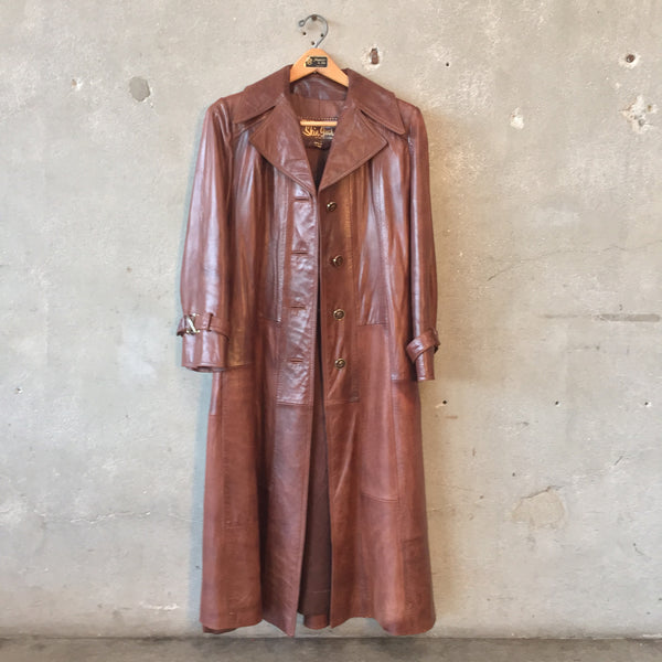 Vintage Leather Maxi Coat