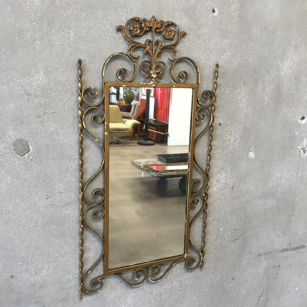 1920's Iron Framed Mirror