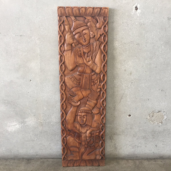 Hand Carved Wood Panel