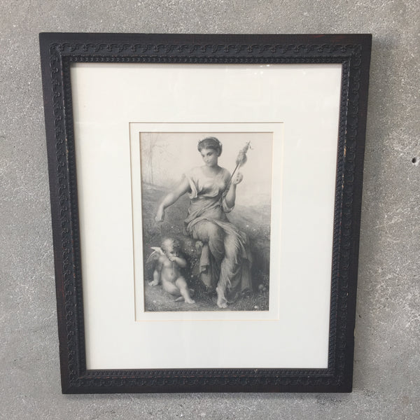 Vintage Goddess Print with Custom Frame