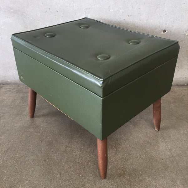 Vintage Mid Century Stool with Storage