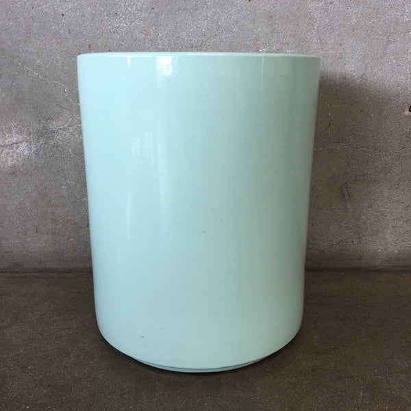 Sea Foam Green Signed Gainey Plant Pot