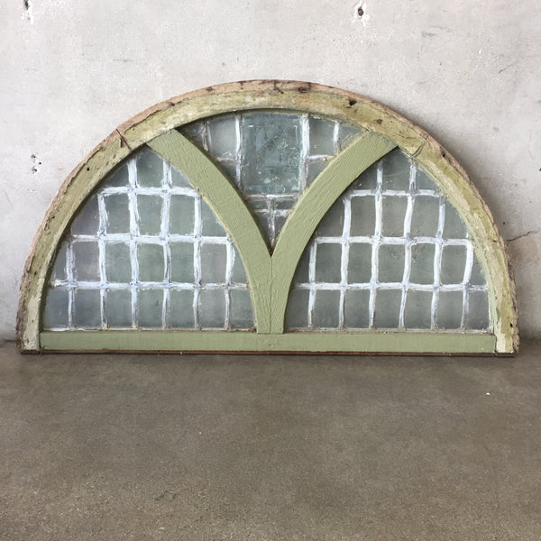 Stained Glass Arched Window