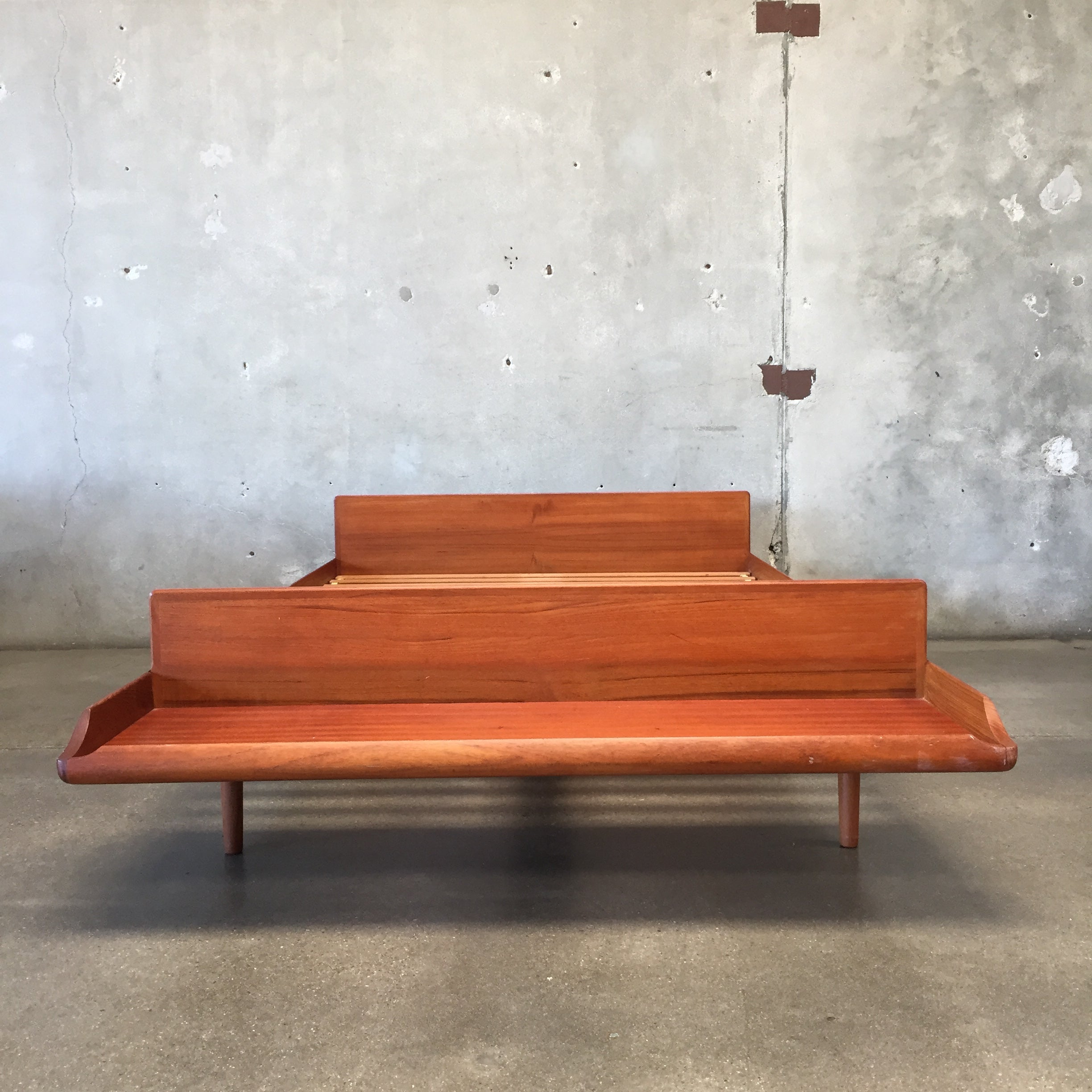 Tremendous Cave Sanford Teak Platform Bed With Bench Pdpeps Interior Chair Design Pdpepsorg