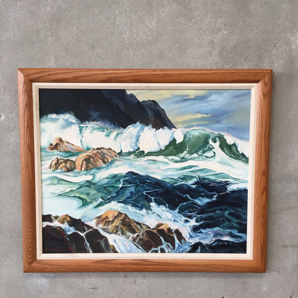 Vintage 1974 Oceanscape Painting