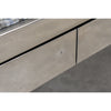 Asymmetric Triangular Granite and Polished Steel Executive Desk