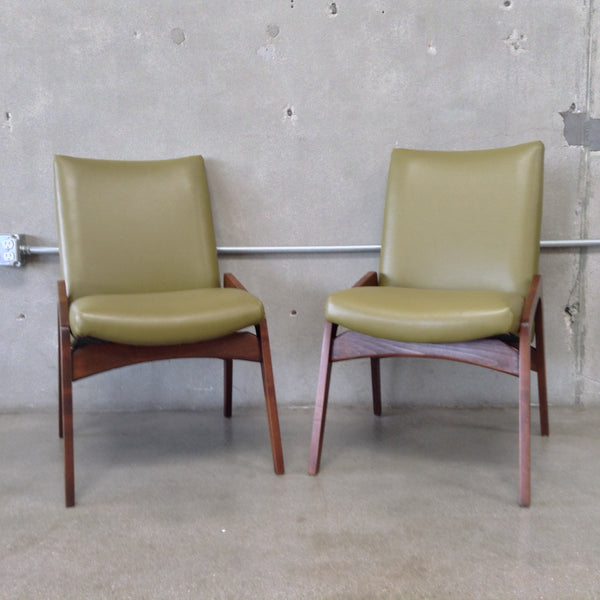 Pair of Green Mid Century Chairs