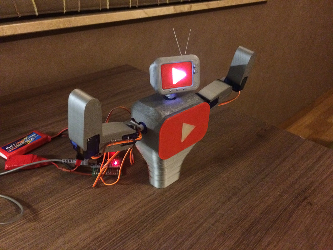 Subby the interactive YouTube subscriber robot model