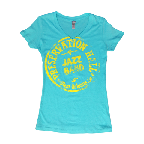 Womens PHJB Drum Logo V-Neck