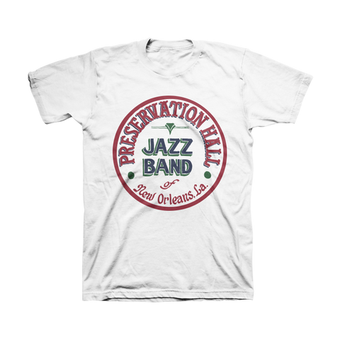 Mens PHJB Drum Logo Tee (White)