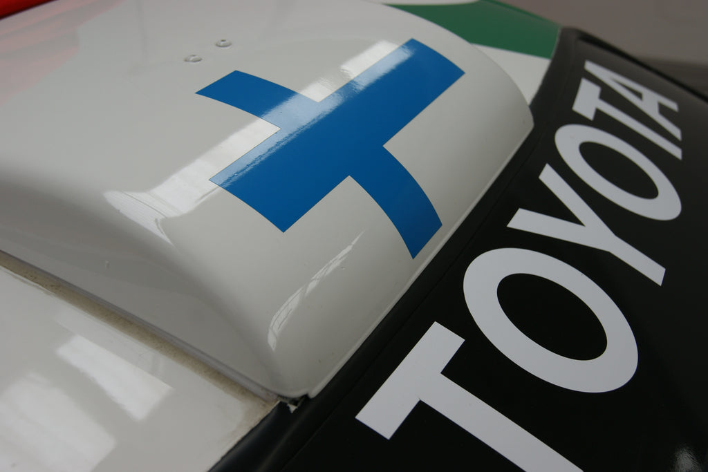 Flying Finn roof scoop, a very distinguishing mark for any rally fan