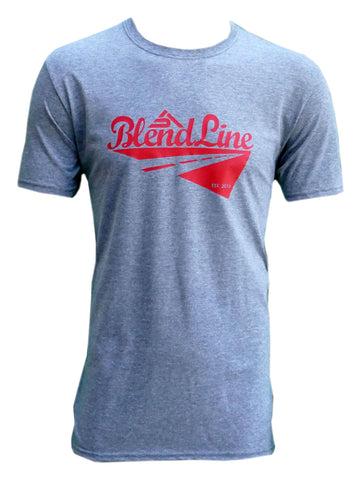 Classic Road Trip T-Shirt [red on graphite grey]