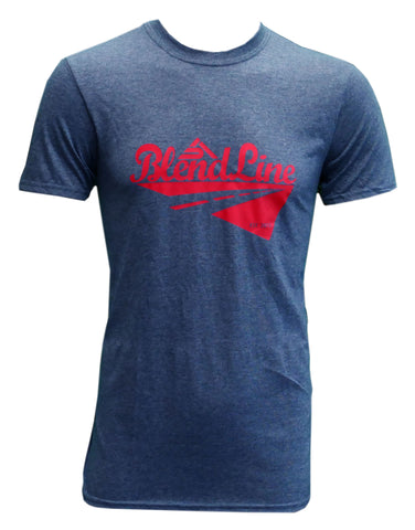 Classic Road Trip T-Shirt [red on dark heather]