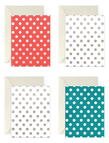 Eid Card Boxed Set of 8 | Coral + Teal