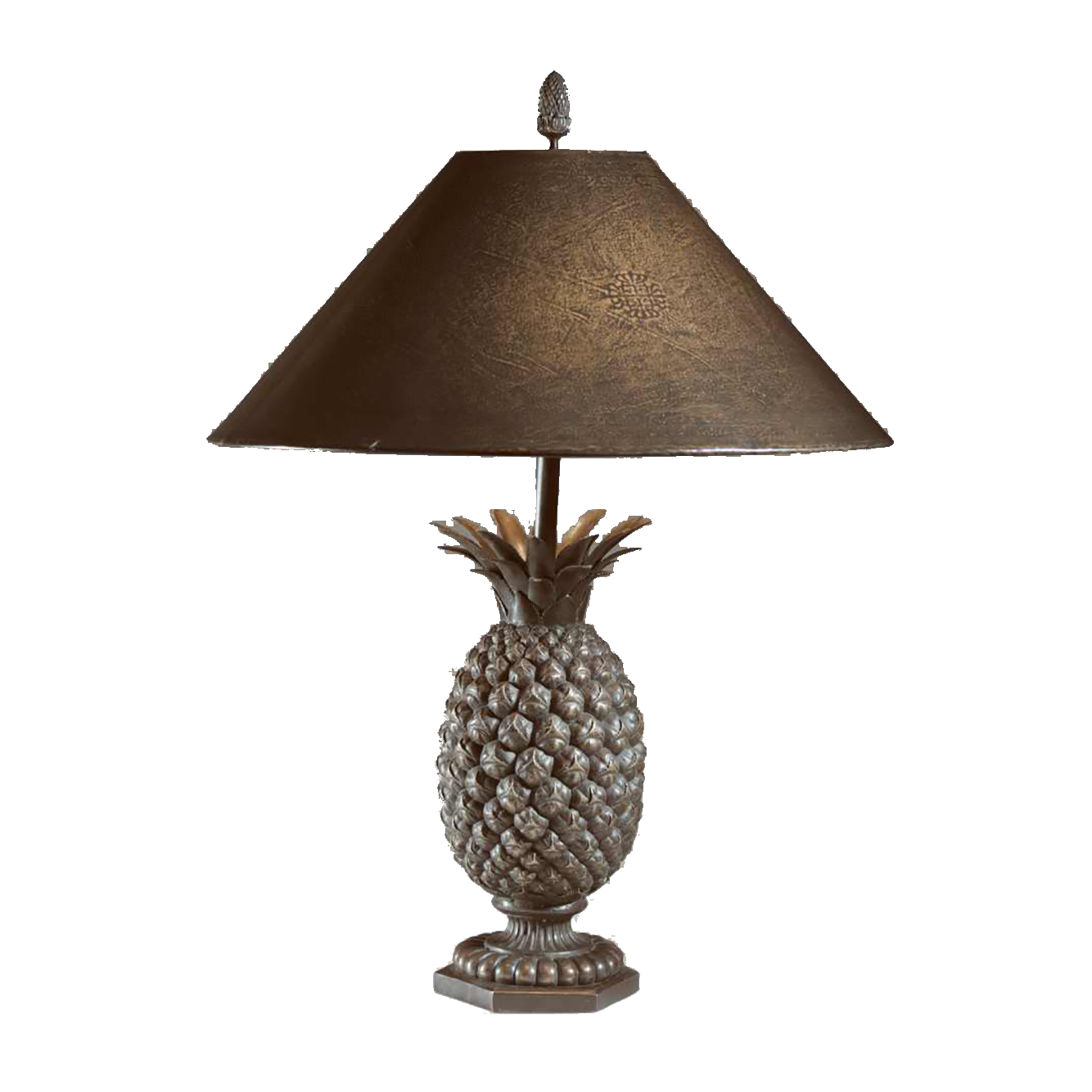 Bronze Pineapple Lamp