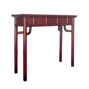 Antique Red Console Table