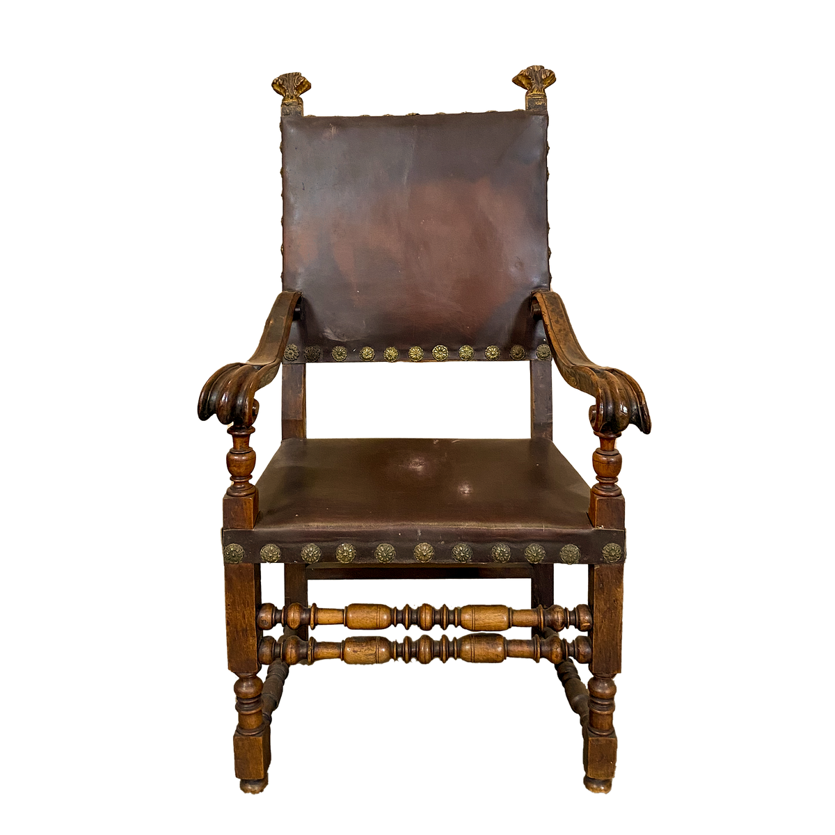 Spanish Leather Armchair