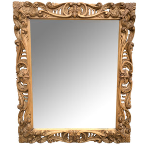 Carved Pine French Mirror