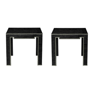 Pair of Black Saguran Tables