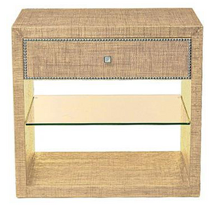 Saguran Side Table with Glass Shelf