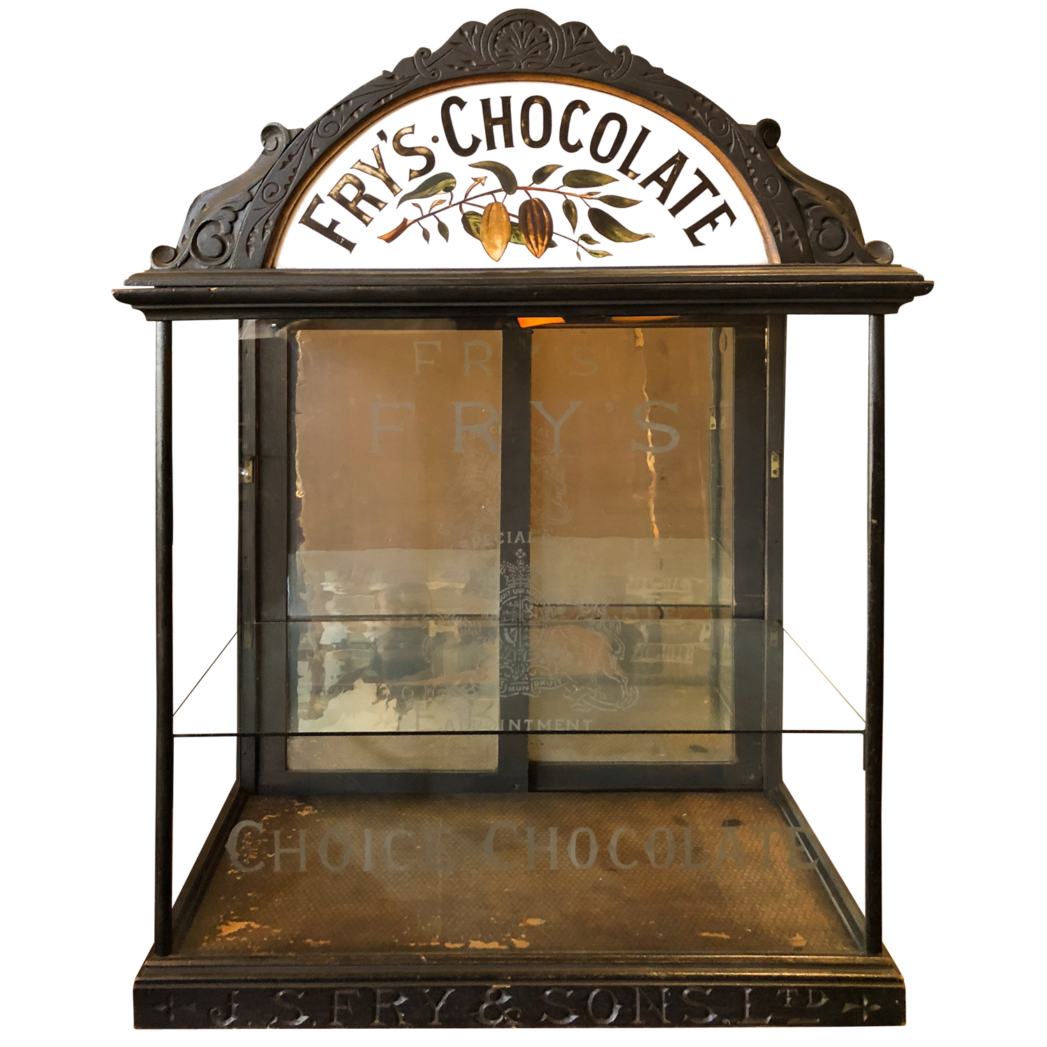 English Chocolate Display Cabinet
