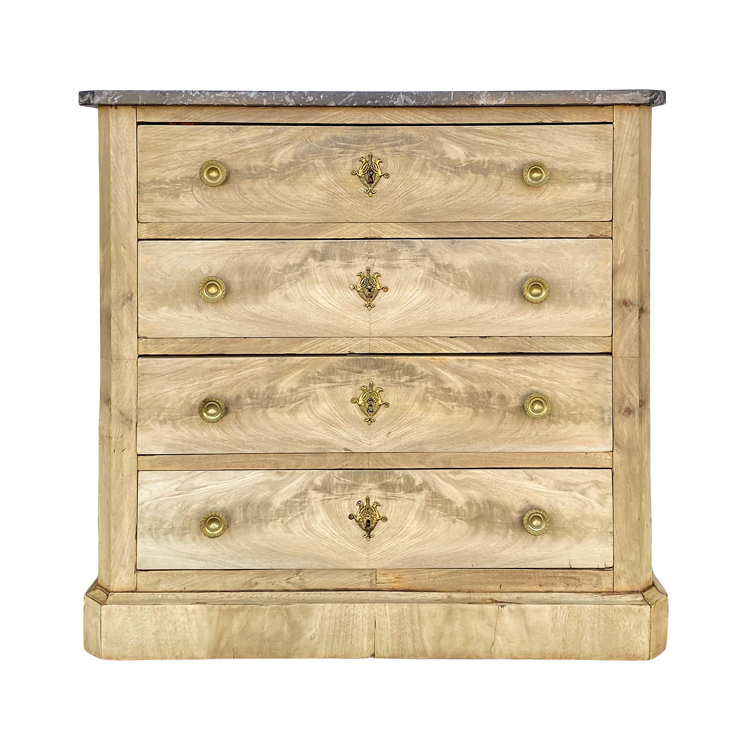 Bleached Flame Mahogany Commode