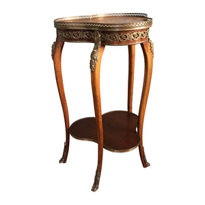 Antique French Side Inlaid Side Table