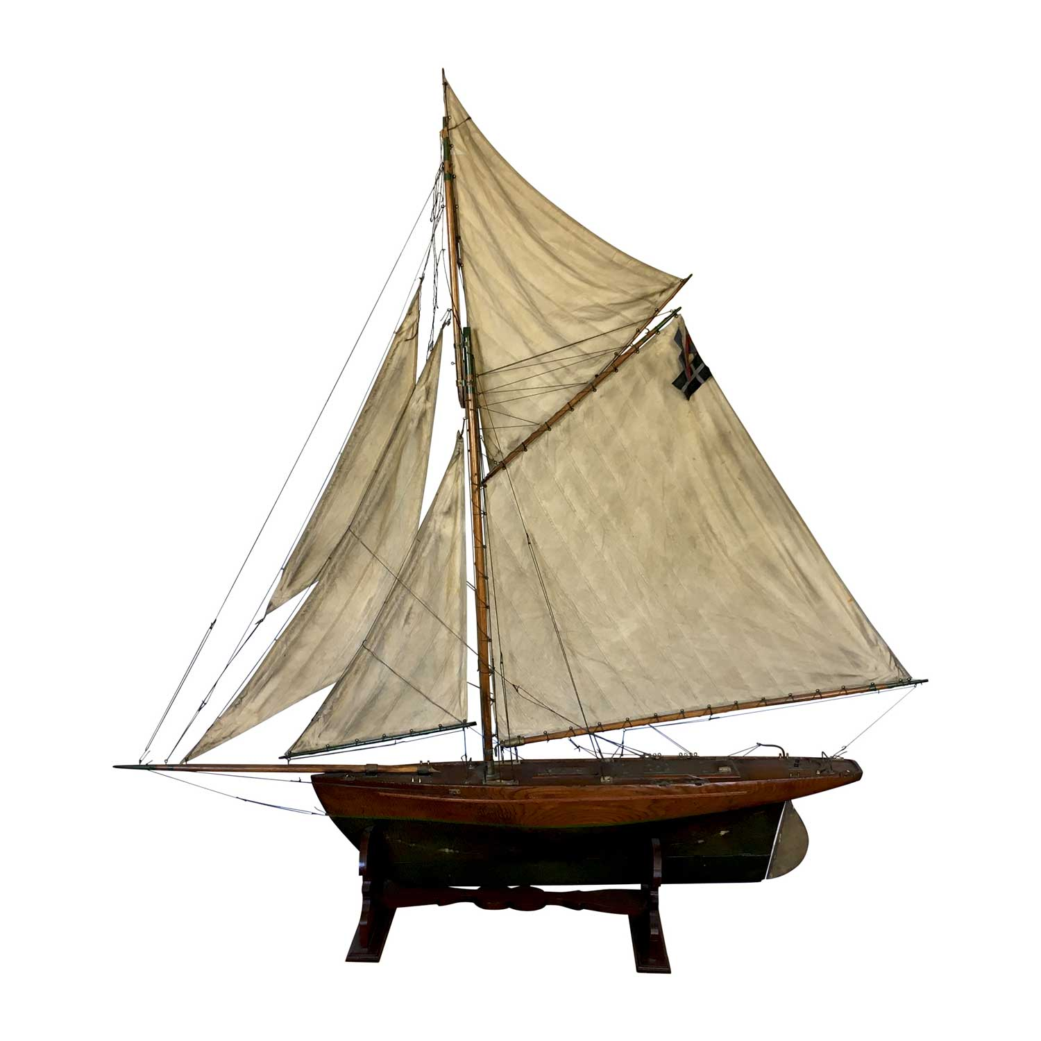 Unusally Large Antique Original Pond Yacht