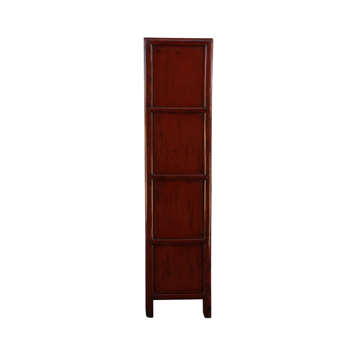 Pair of Red Lacquer Bookcases