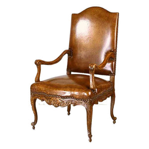 Carved Walnut Arm Chair