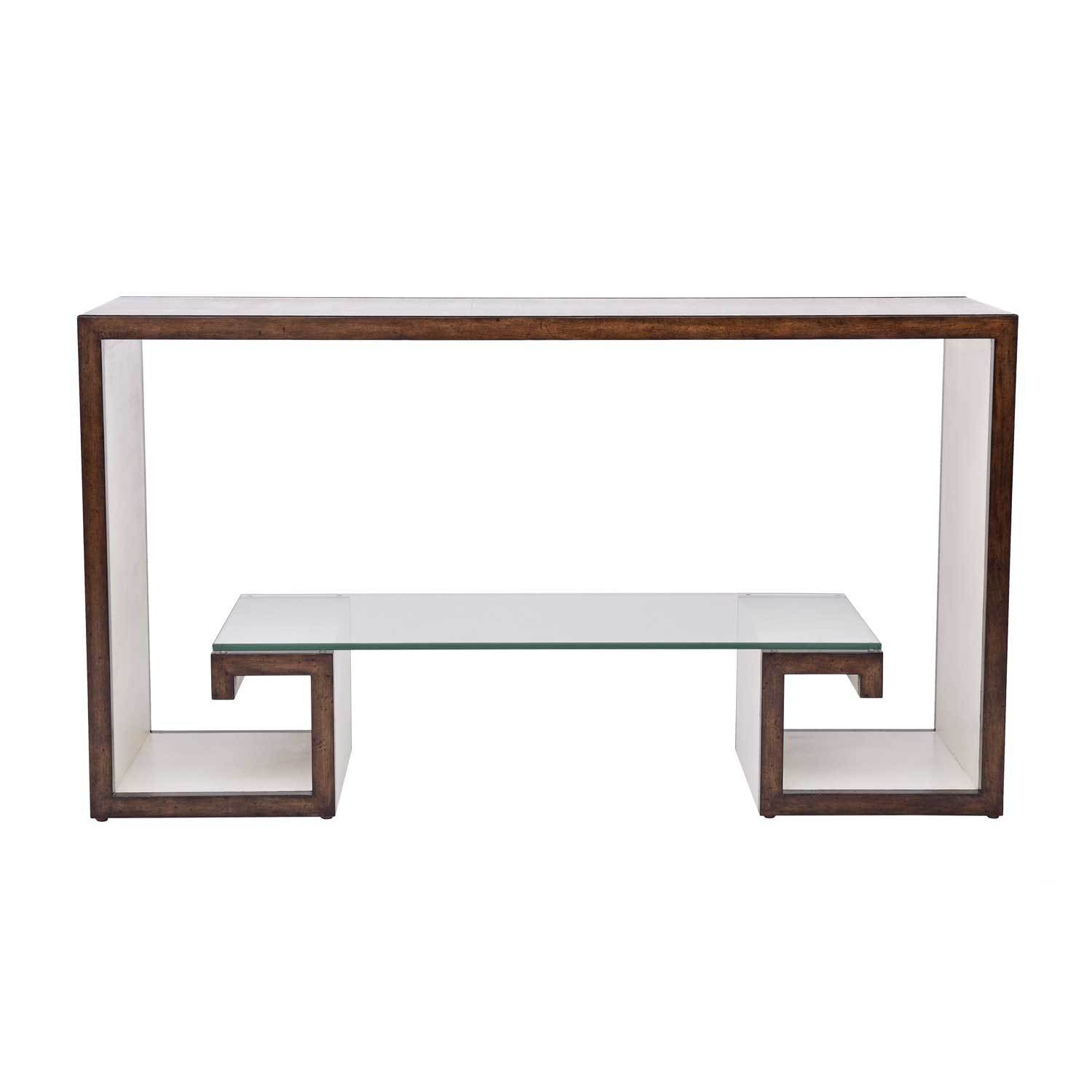 Greek Key Console Table