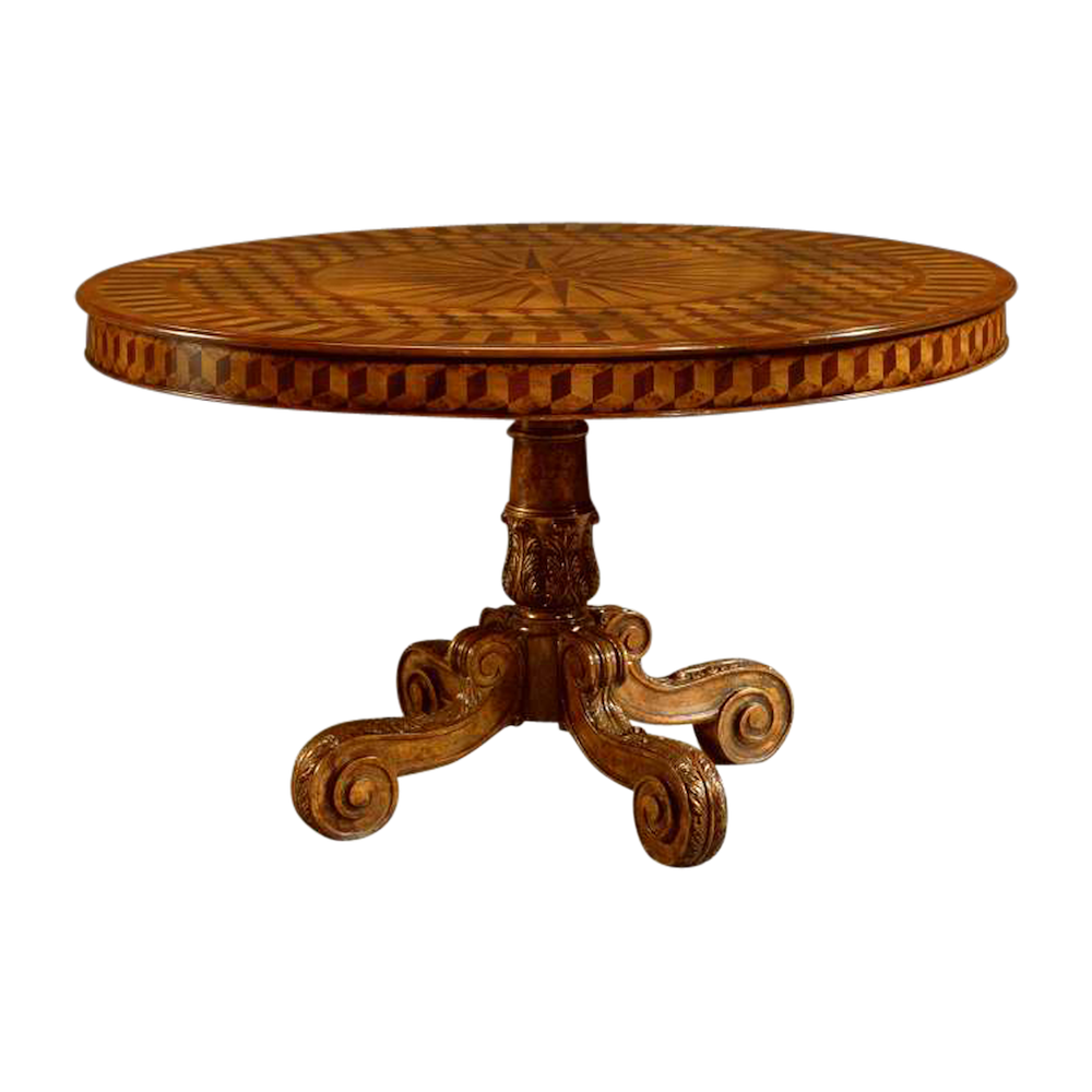Inlaid Round Dining Table