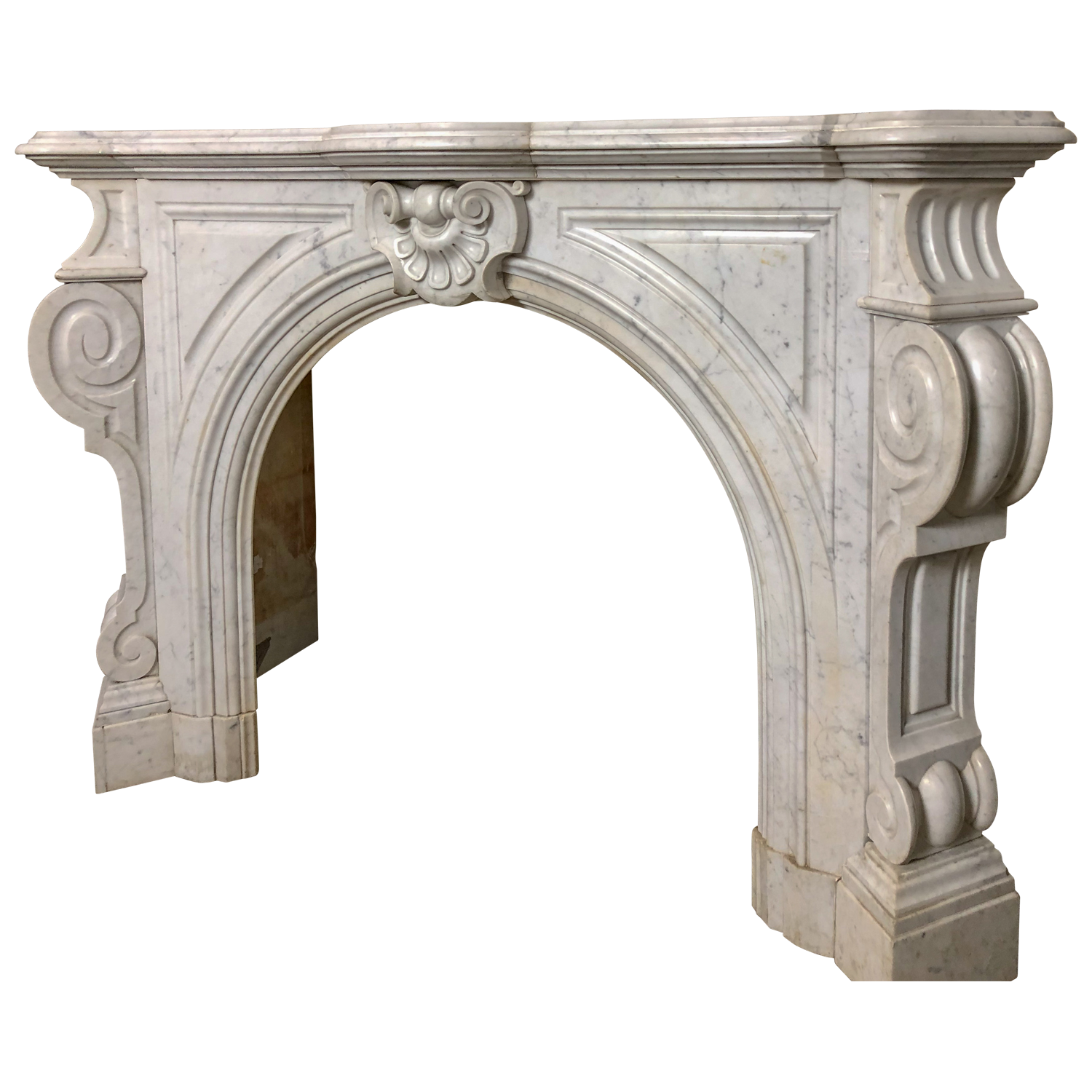 French Carrera Fireplace