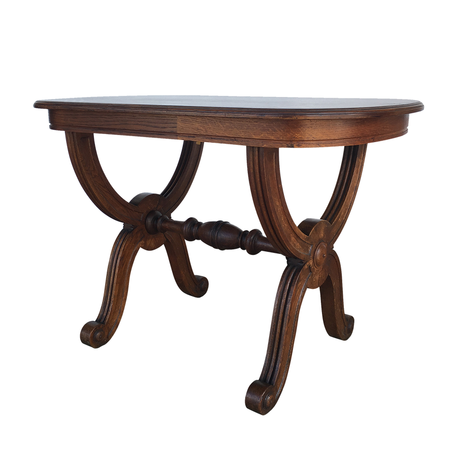 Oak Shaped Side Table