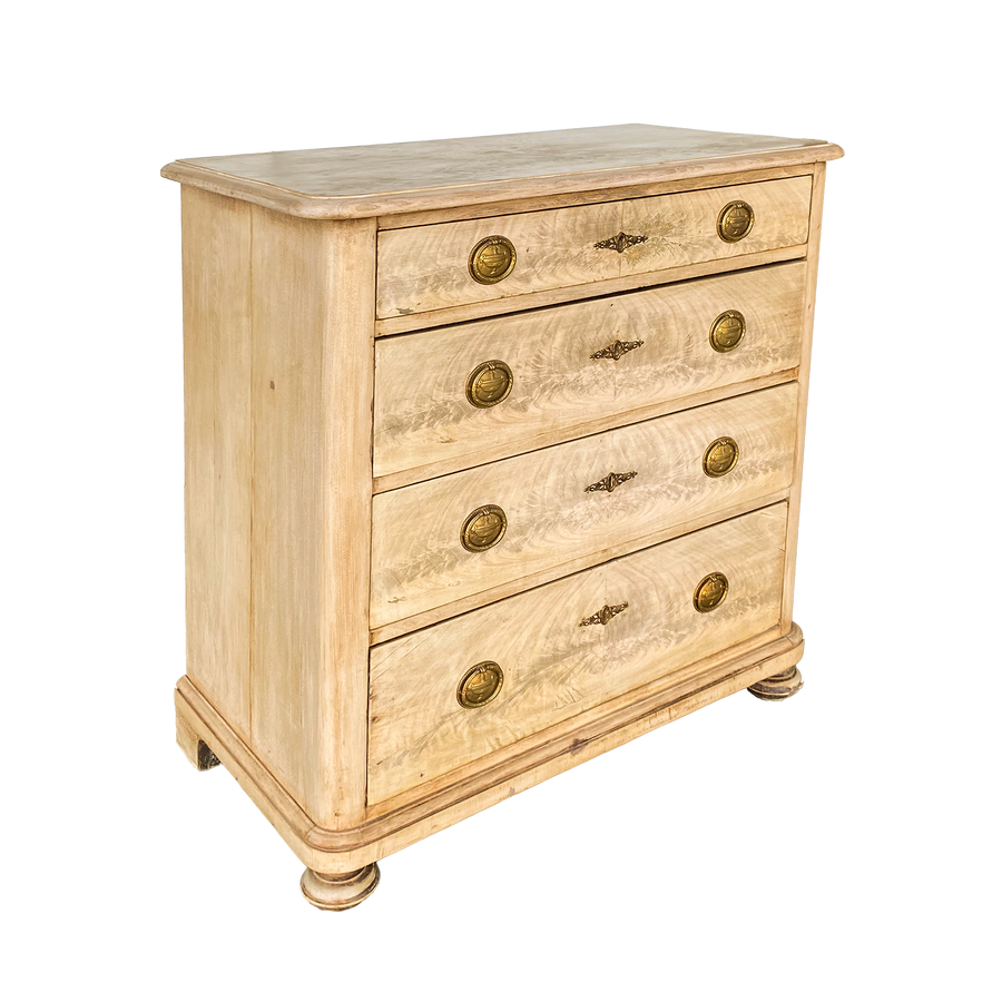 Empire Four Drawer Walnut Chest of Drawers