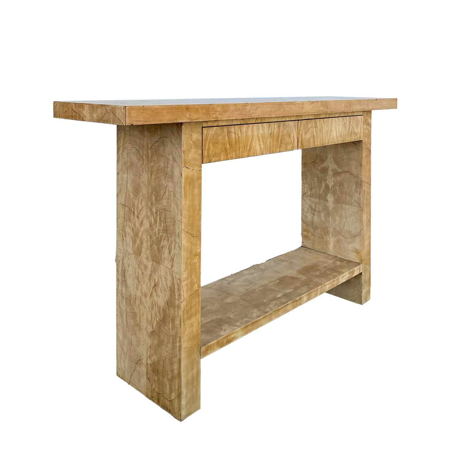 Modernist Bleached Console