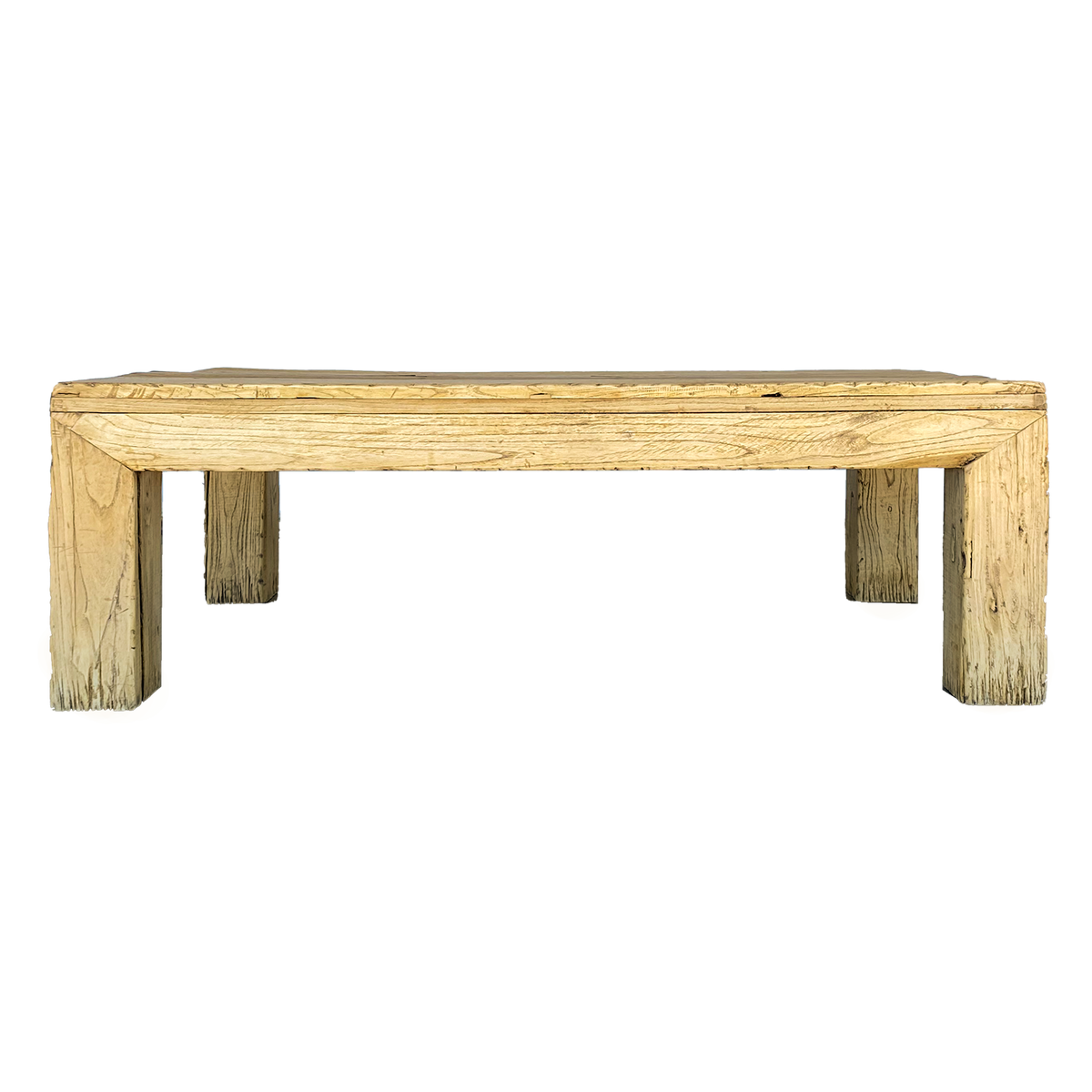 Bleached Elm Ming Style Cocktail Table