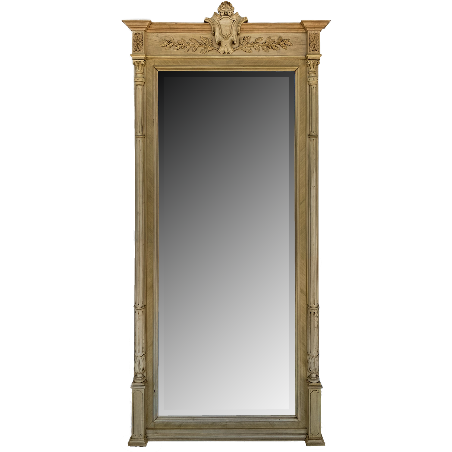 French Bleached Floor Mirror