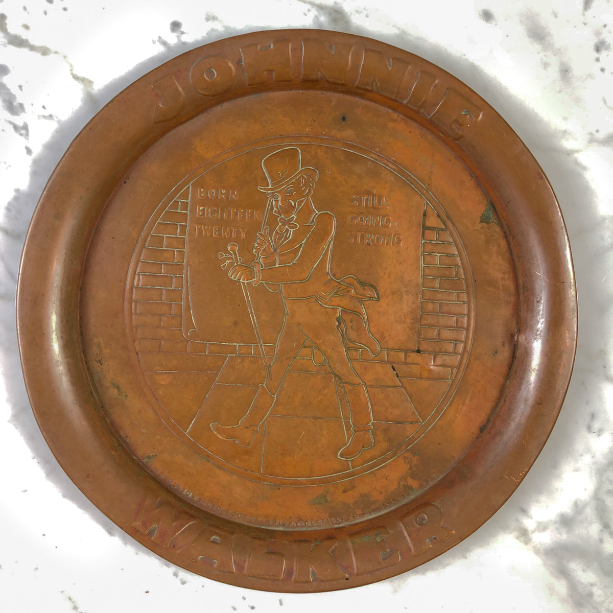 Johnnie Walker Copper Tray